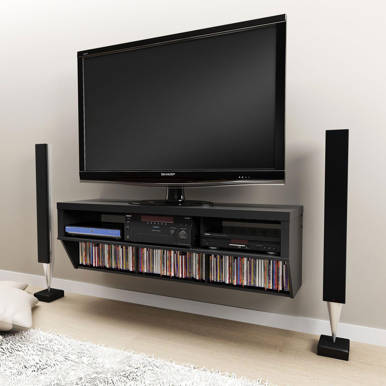Painting Of Floating Media Shelf Design Furniture Pinterest  # Meuble Tv Designer