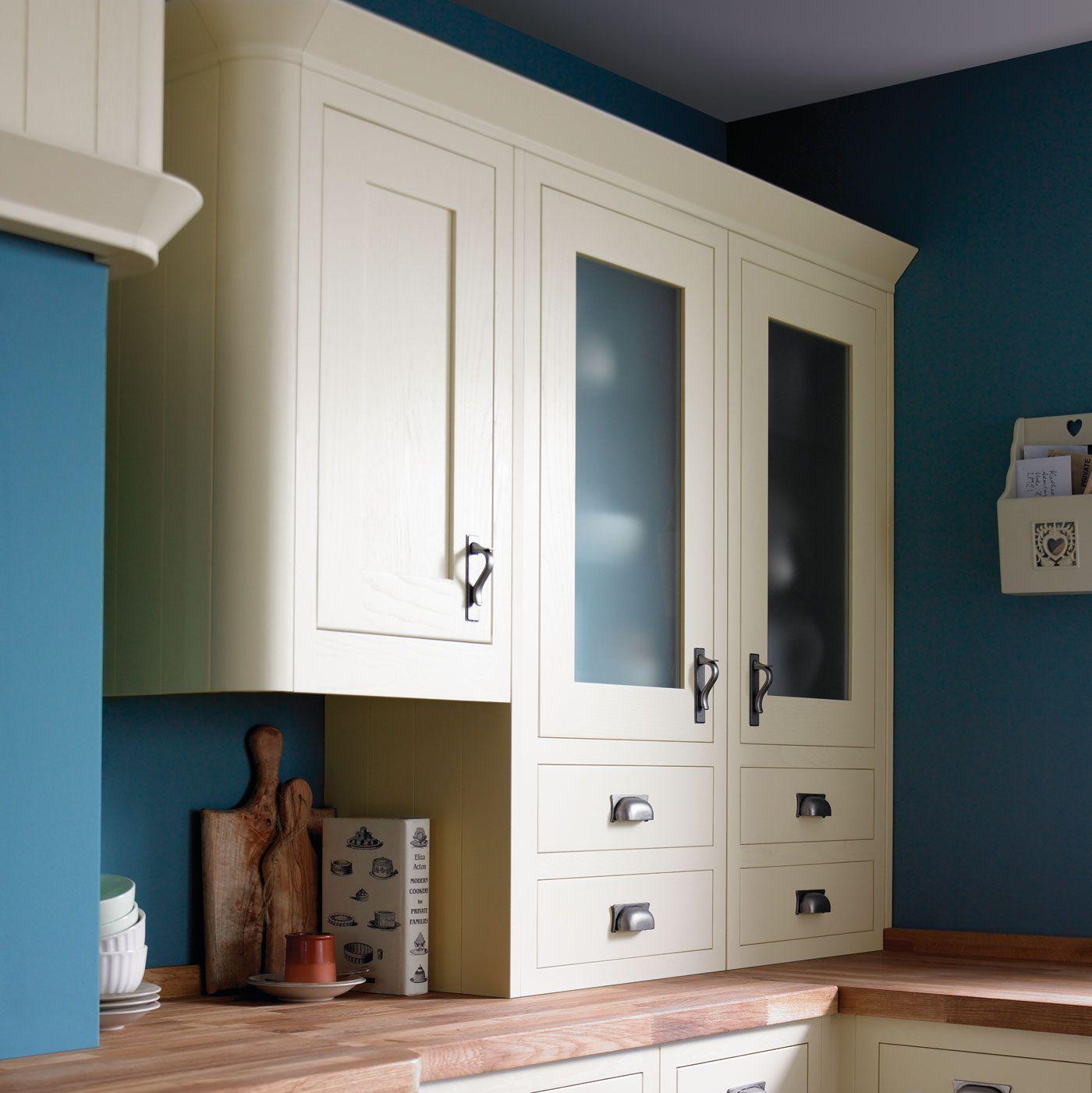 Carisbrooke Ivory Framed Ivory frames, B&q kitchens