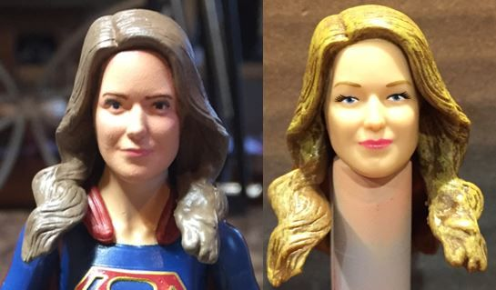 Super Girl DC Multiverse Custom Repaint Action Figure Before and After