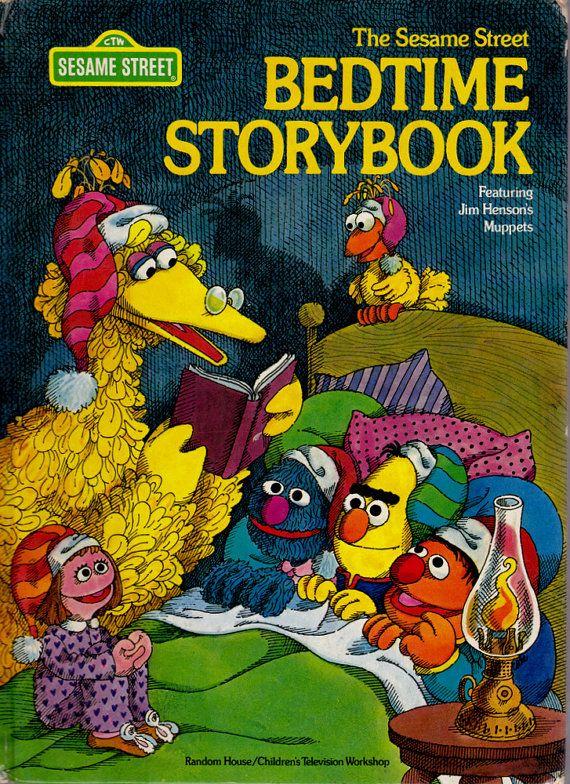 vintage kids book the Sesame Street Storybook by OnceUponABookshop, $7.00
