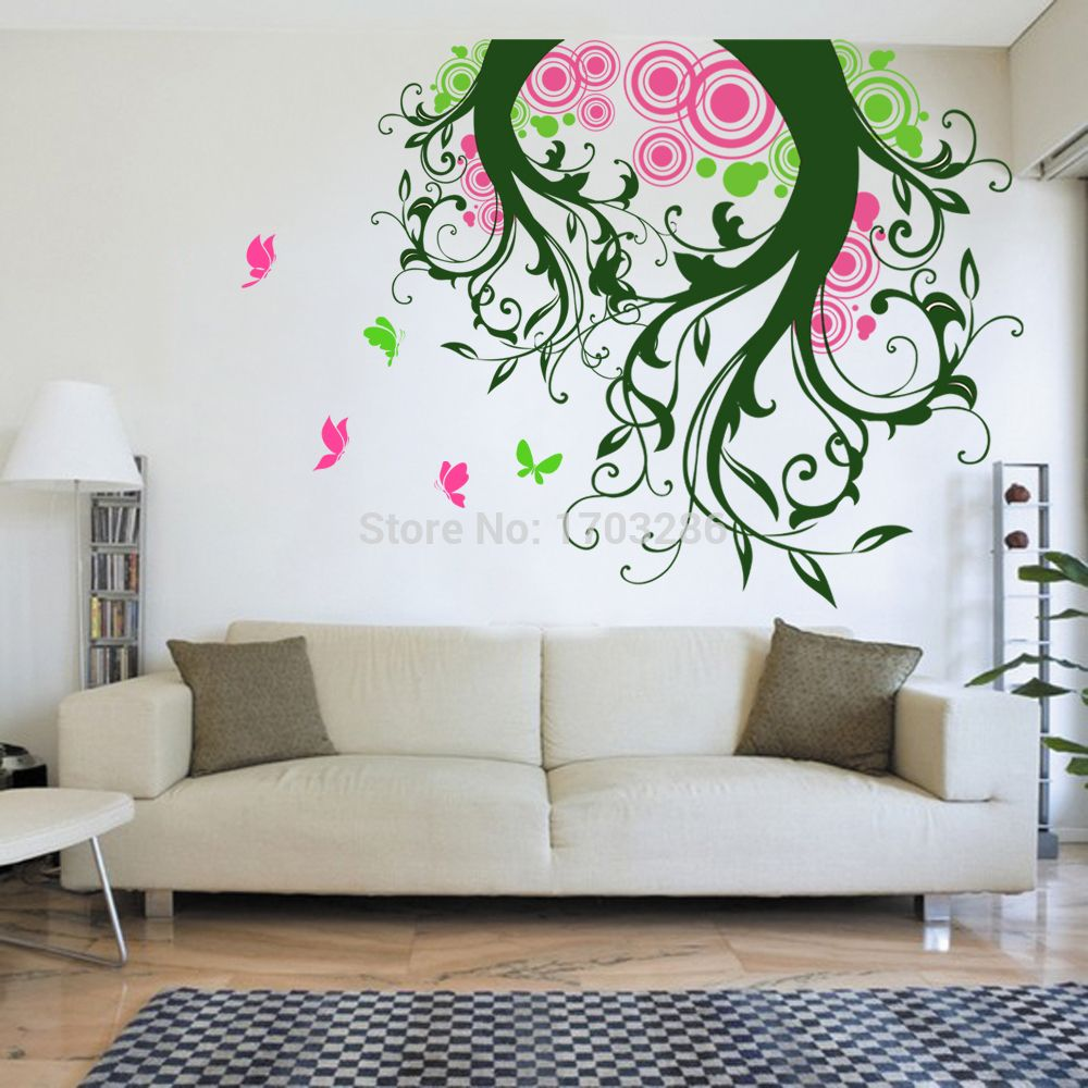 Free Shipping Buy Best Magic Tree Wall Decal With Butterflies - Vinyl wall decals butterflies