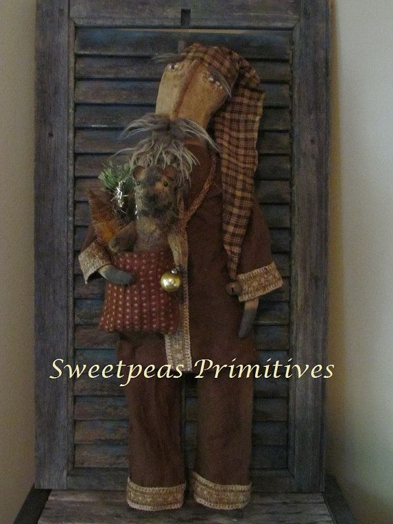 Primitive Folk Art Early Style Christmas by SweetpeasPrimitives