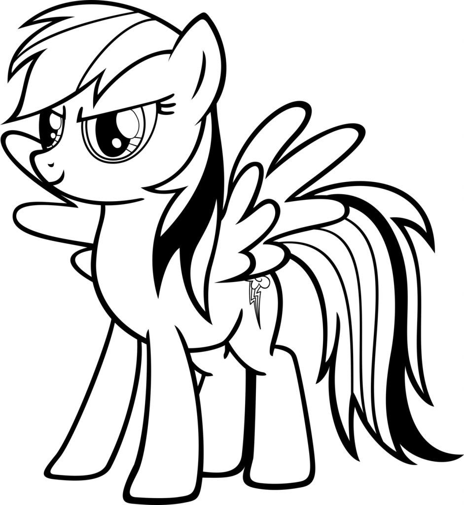 Rainbow Dash Coloring Pages Best Coloring Pages For Kids My Little Pony Coloring Cartoon Coloring Pages Pony Drawing