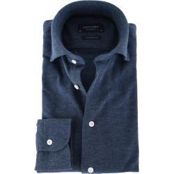 Photo of Profuomo Shirt Gestrickt Slim Fit Indigoblau Profuomo