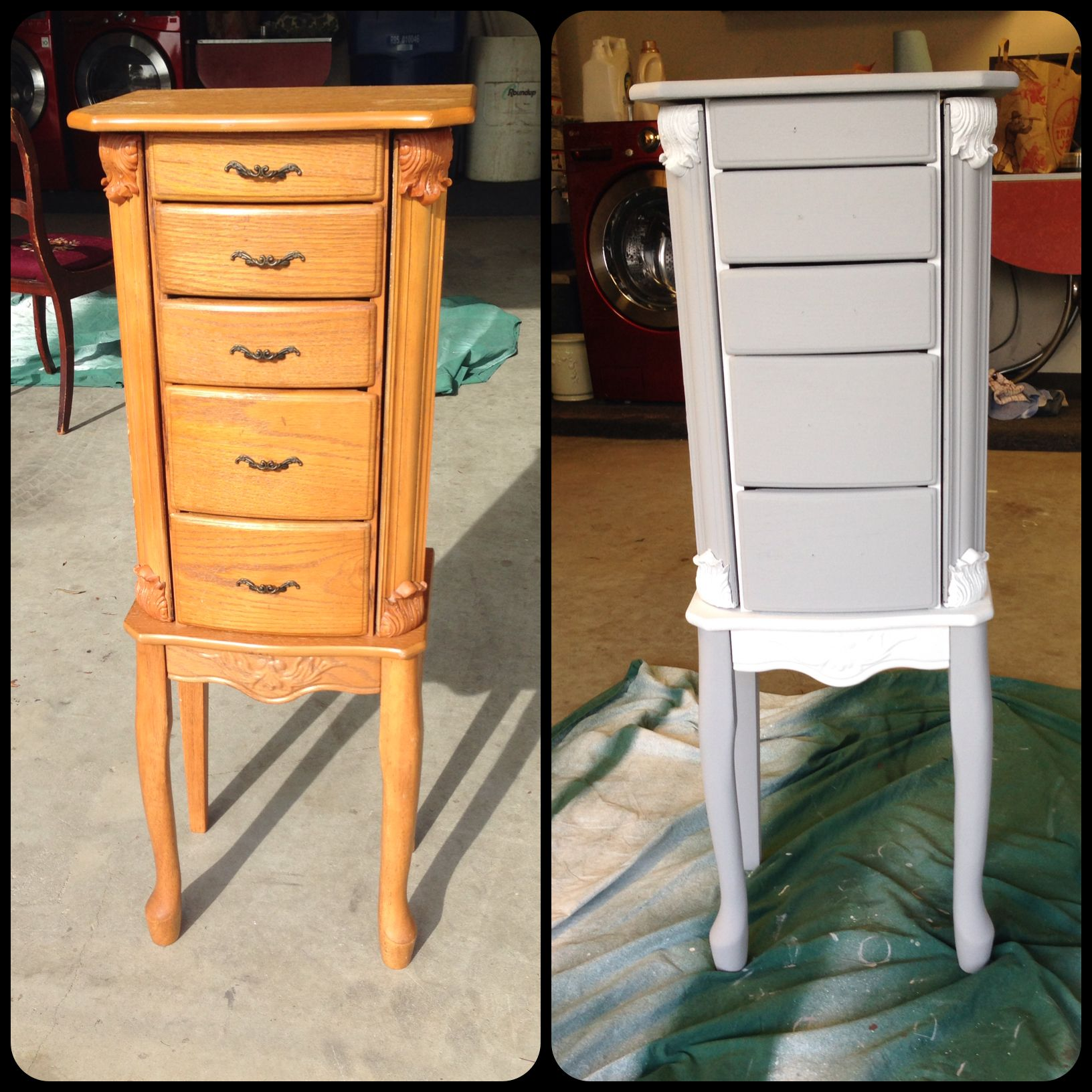 Craigslist Revamp With Annie Sloan Chalk Paint Distressed Jewelry Armoire