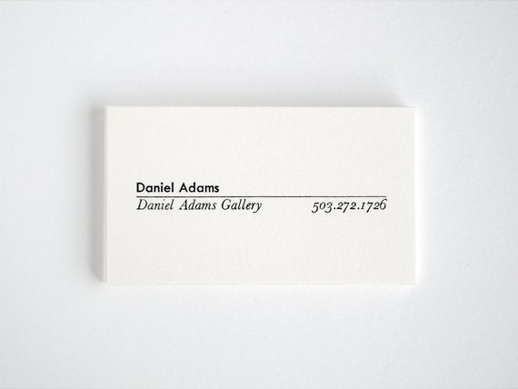 Monograph Modern Calling Cards Letterpress Mid Century Business Cards Premiere Calling Cards Name Card Design Personal Business Cards