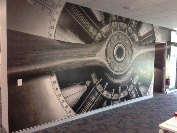 Wall Mural Installations for Ash Pinterest Wall murals Gold