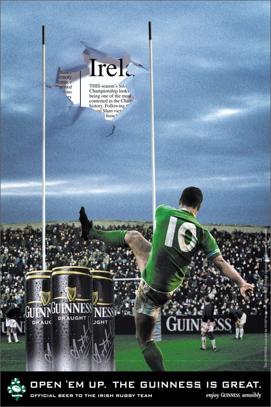 Irish Rugby Advertising Design Goodness Advertising And Design Blog The Best Ads Designs And Sometimes The Wo Irish Rugby Irish Rugby Team Ireland Rugby