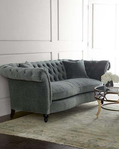 $2600 Neiman Marcus Sofa. H7DN9 Jadelyn Tufted Sofa
