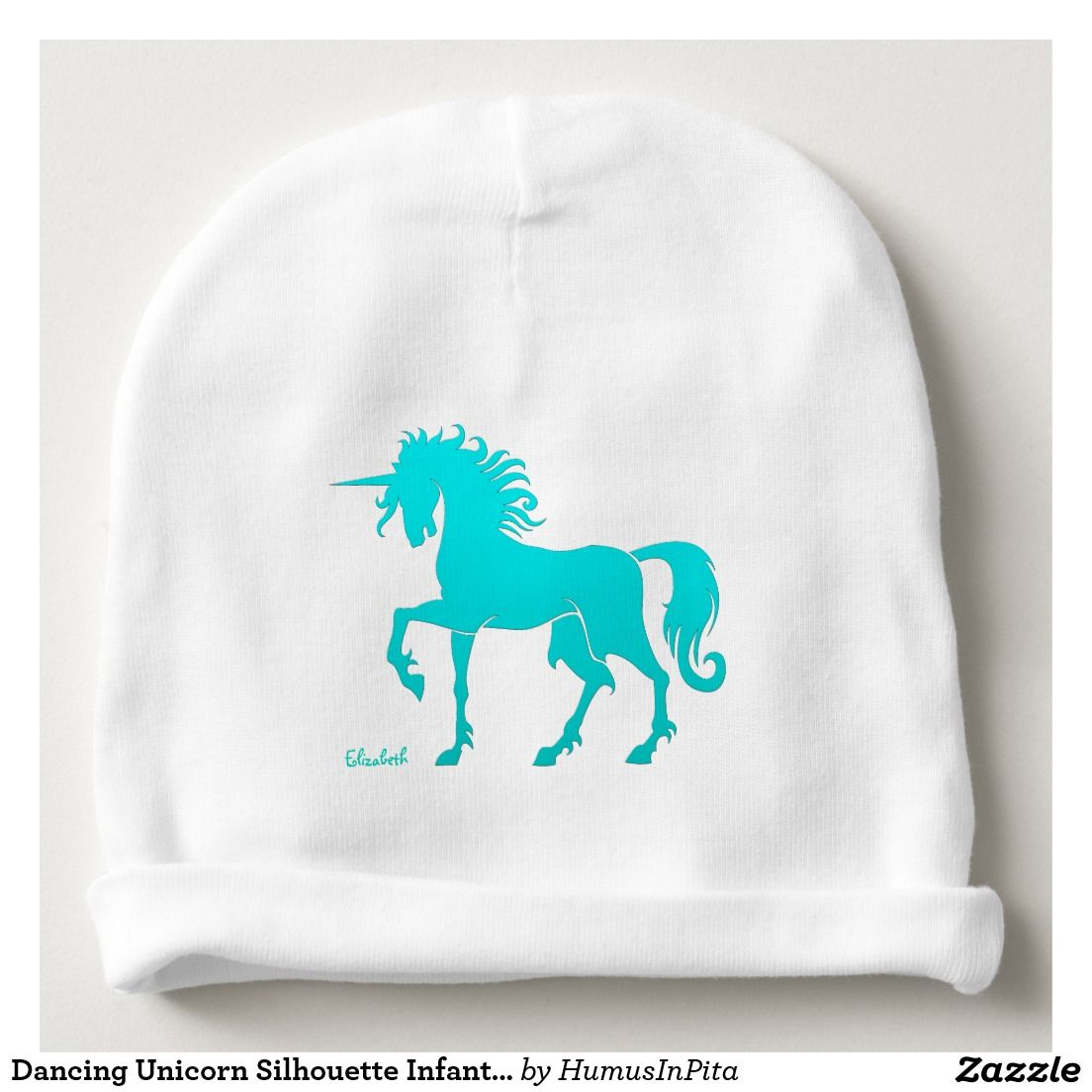 Dancing Unicorn Silhouette Infant Hat Baby Beanie