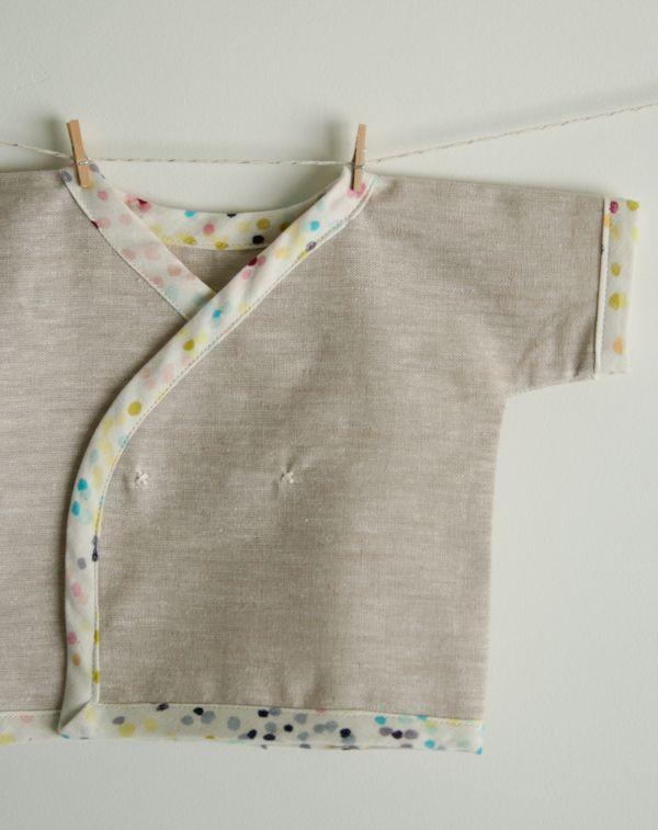 Neugeborenen Wickelshirt nähen, Newborn Kimono Shirt nähen ...