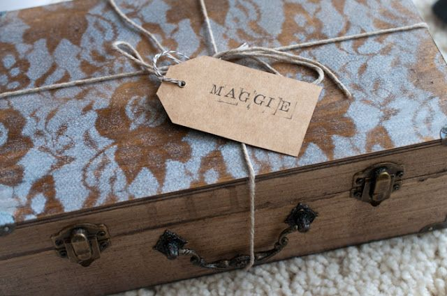 """Be My Bridesmaid? How To """"Propose"""" To Your Wedding Party- I love how much thought she put into this little box for her bridal party.  A tutorial follows & of course you can mix it up and make it your own!"""