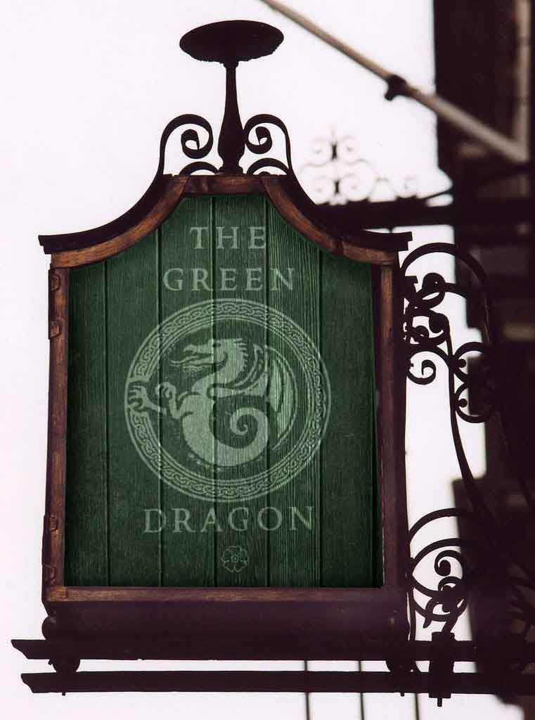 Inn of the Green Dragon Sign lotr