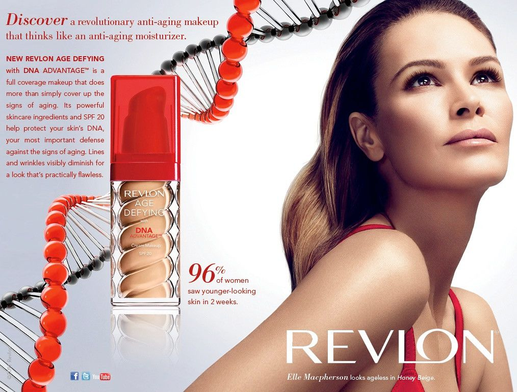 ELLE MCPHERSON | REVLON COSMETICS CAMPAIGN ADVERTISEMENT | ad ...