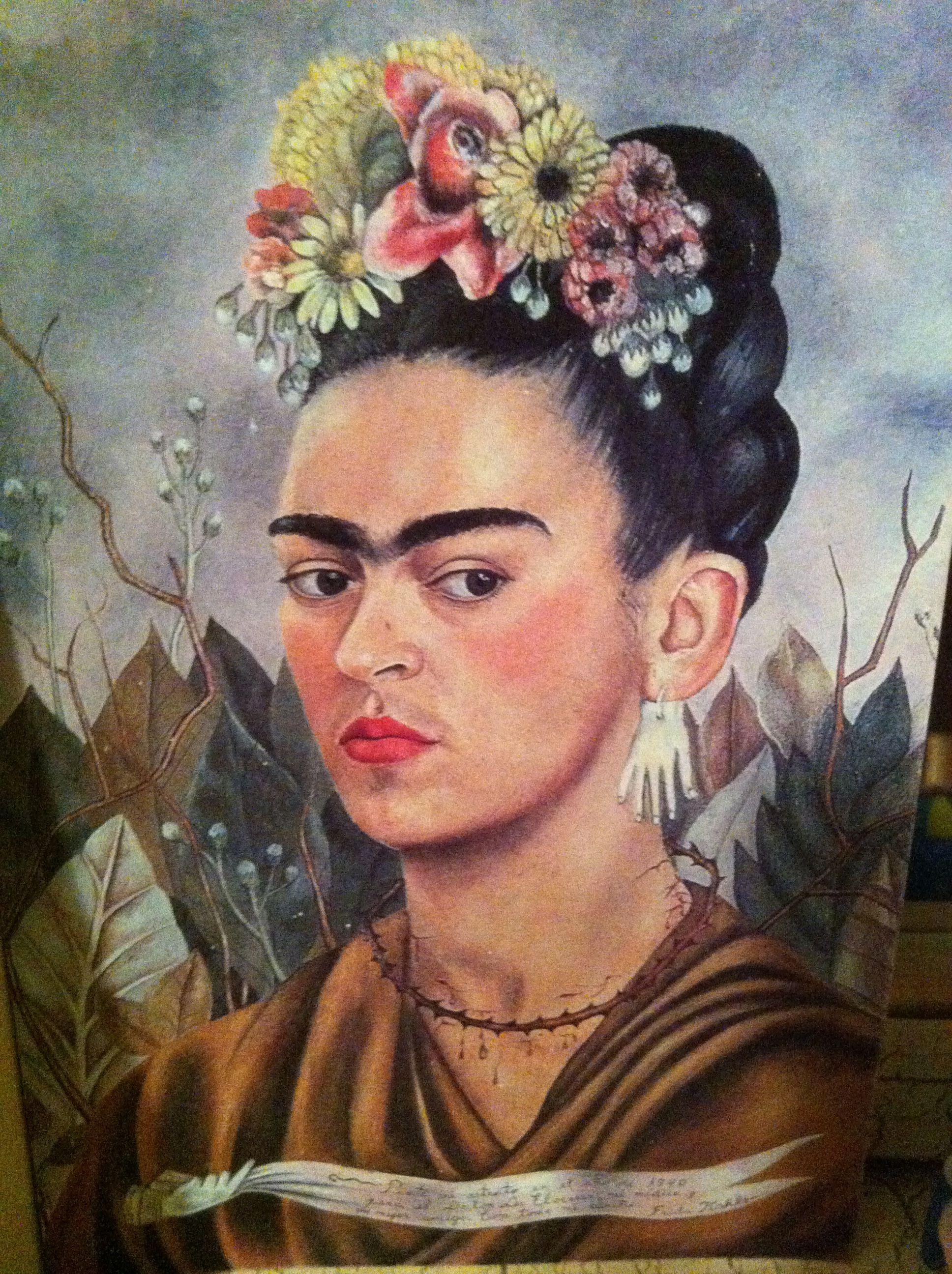Frida Kahlo self-portrait | Women and nature | Pinterest