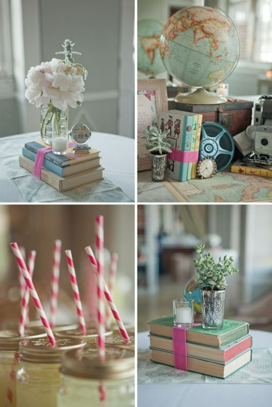 Vintage book wedding centerpieces i love these ideas i would use vintage book wedding centerpieces i love these ideas i would use childrens books because junglespirit Image collections