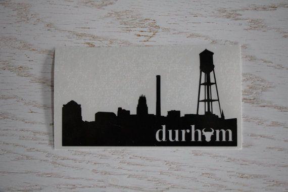 Durham Skyline Decal Durham Nc Bull City Skyline Durham Bulls