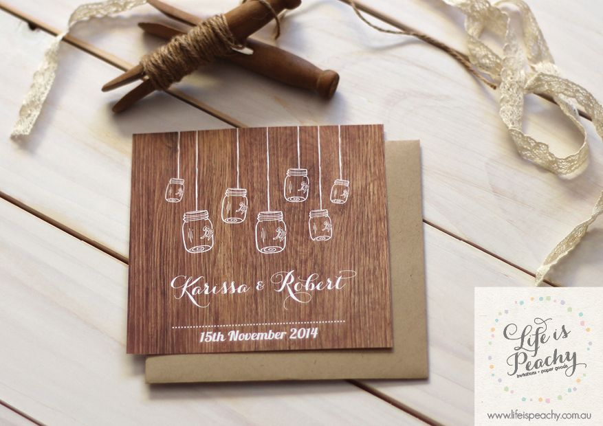 Mason Jars Wedding Invitation