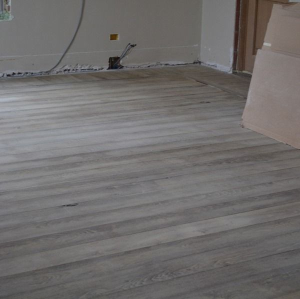 Natural Oak Stained Gray Belgian Pearl Living Room Redo