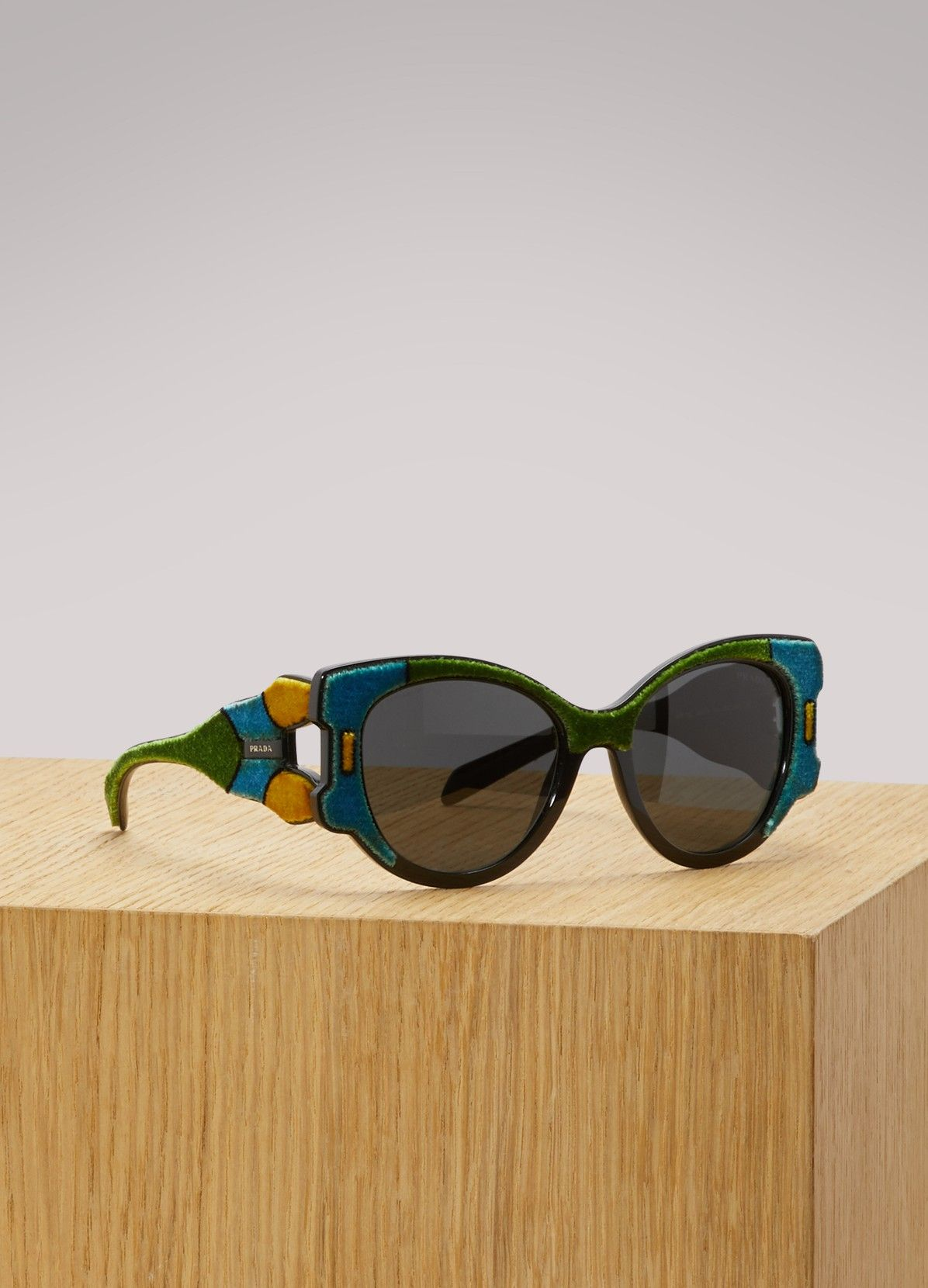 5c95497600 PRADA Tapestry sunglasses