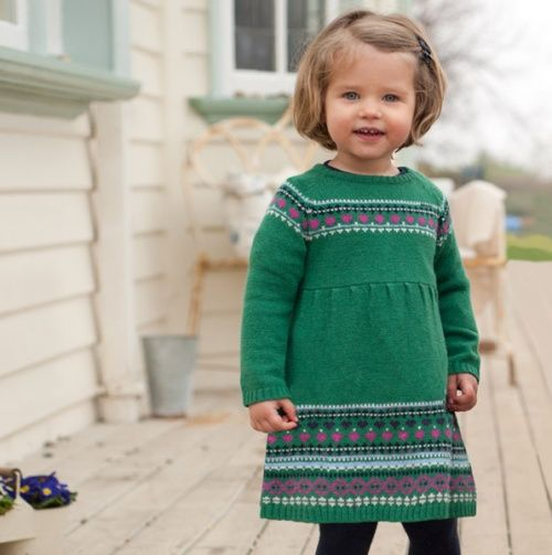 Fairisle Dress - JoJo Maman Bébé Girls >> Love this! | Cutesy ...