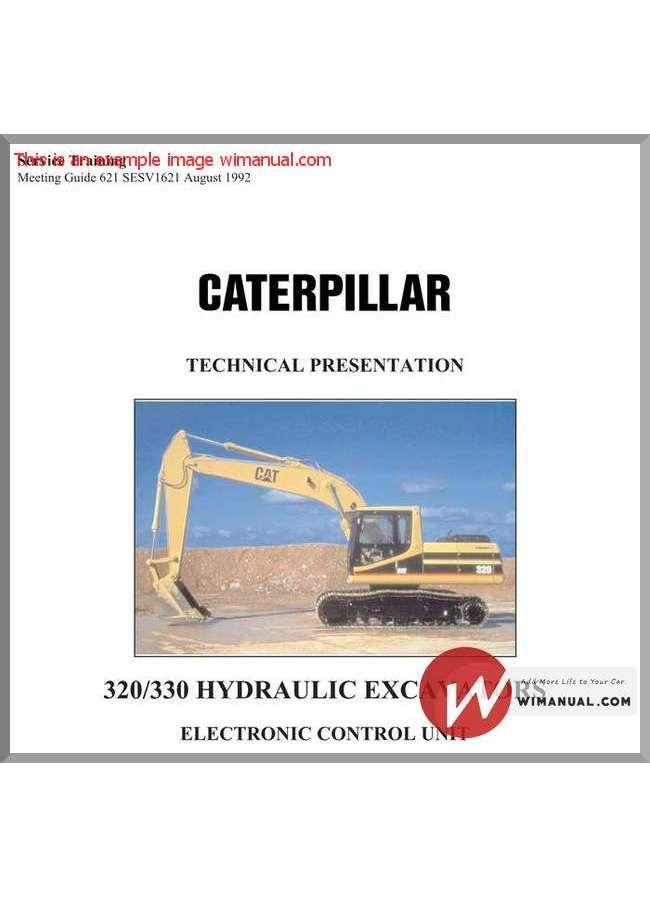 caterpillar 320 330 excavator electronic control unit pdf download