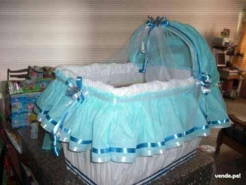 Cuna para regalos babyshower in 2019 baby shower baby - Cajas decoradas para bebes ...