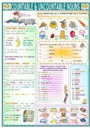 countable and uncountable nouns grammar rules pdf