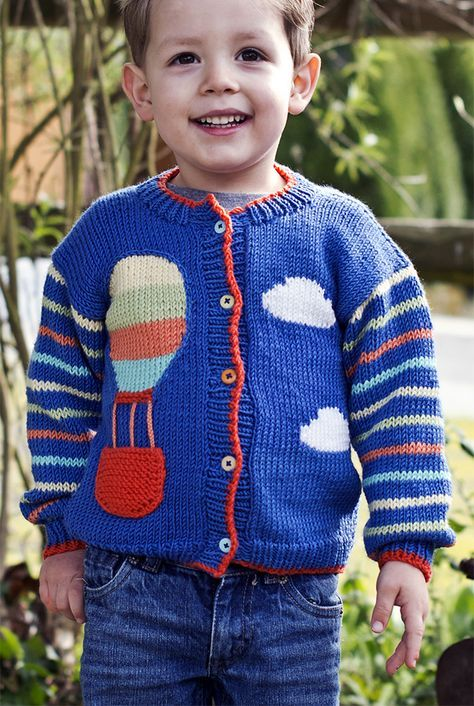 Free Knitting Pattern for Up Up And Away Sweater - A hot ...