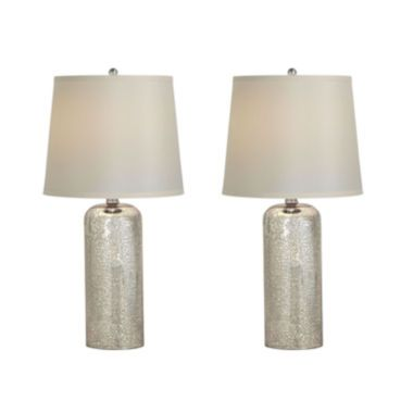 Jcpenney Home Set Of 2 Mercury Glass Table Lamps Mercury Glass Table Lamp Table Lamp Lamp