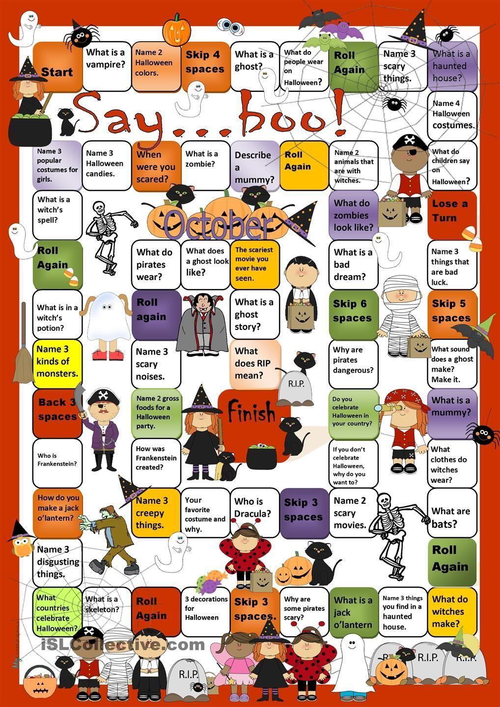 Image Result For Halloween Printable Worksheet Enseigner L Anglais Apprendre L Anglais Activites En Anglais [ 1440 x 1018 Pixel ]
