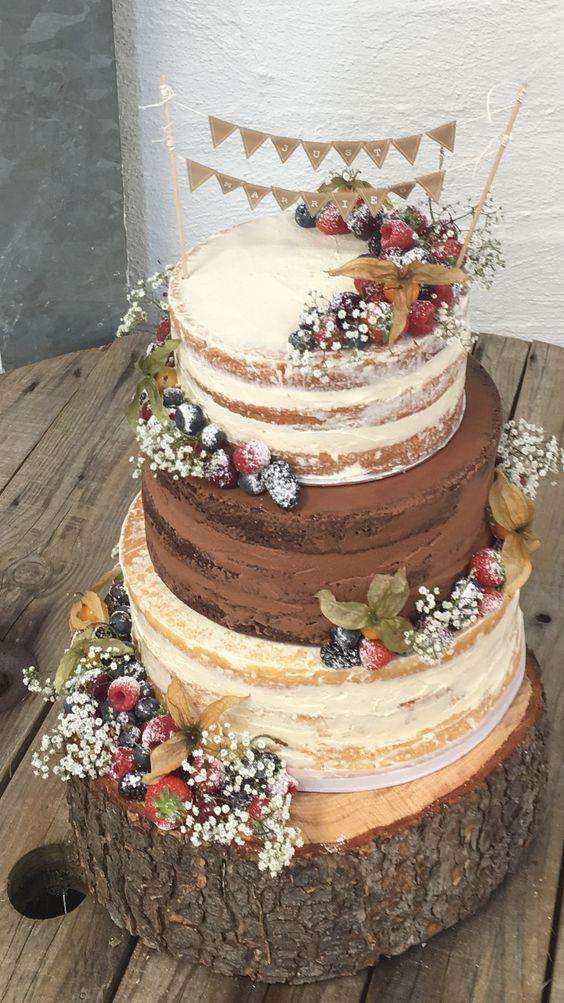 Erstaunliche rustikale Hochzeitstorten – Wohnaccessoires