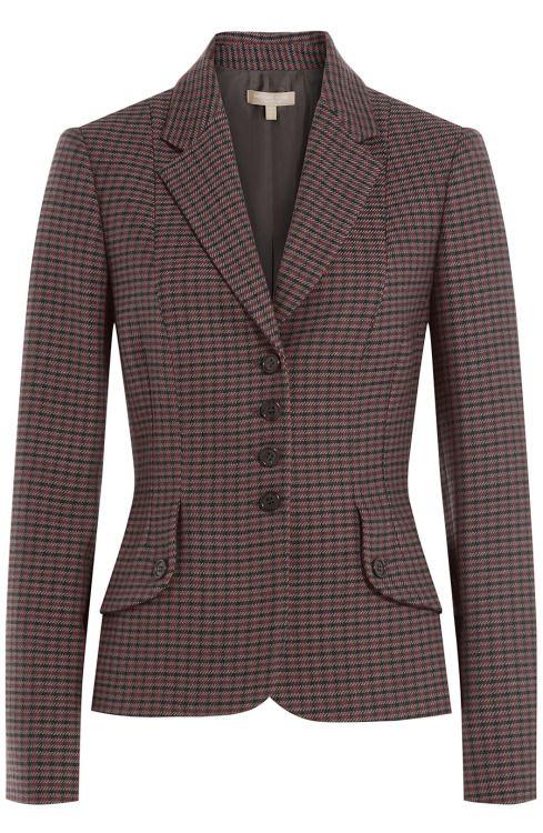 Michael Kors Virgin Wool Plaid Blazer - $1555