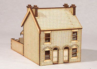 N-HS001 Victorian Double Terraced Houses N Gauge Laser Cut Kit