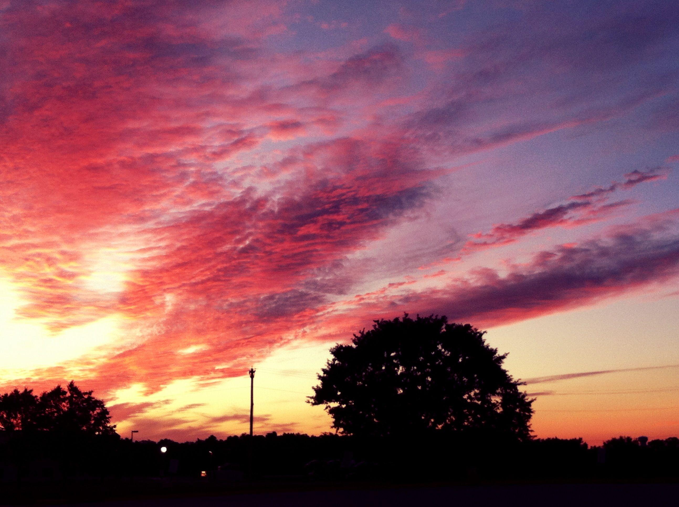 Truck stop sunset