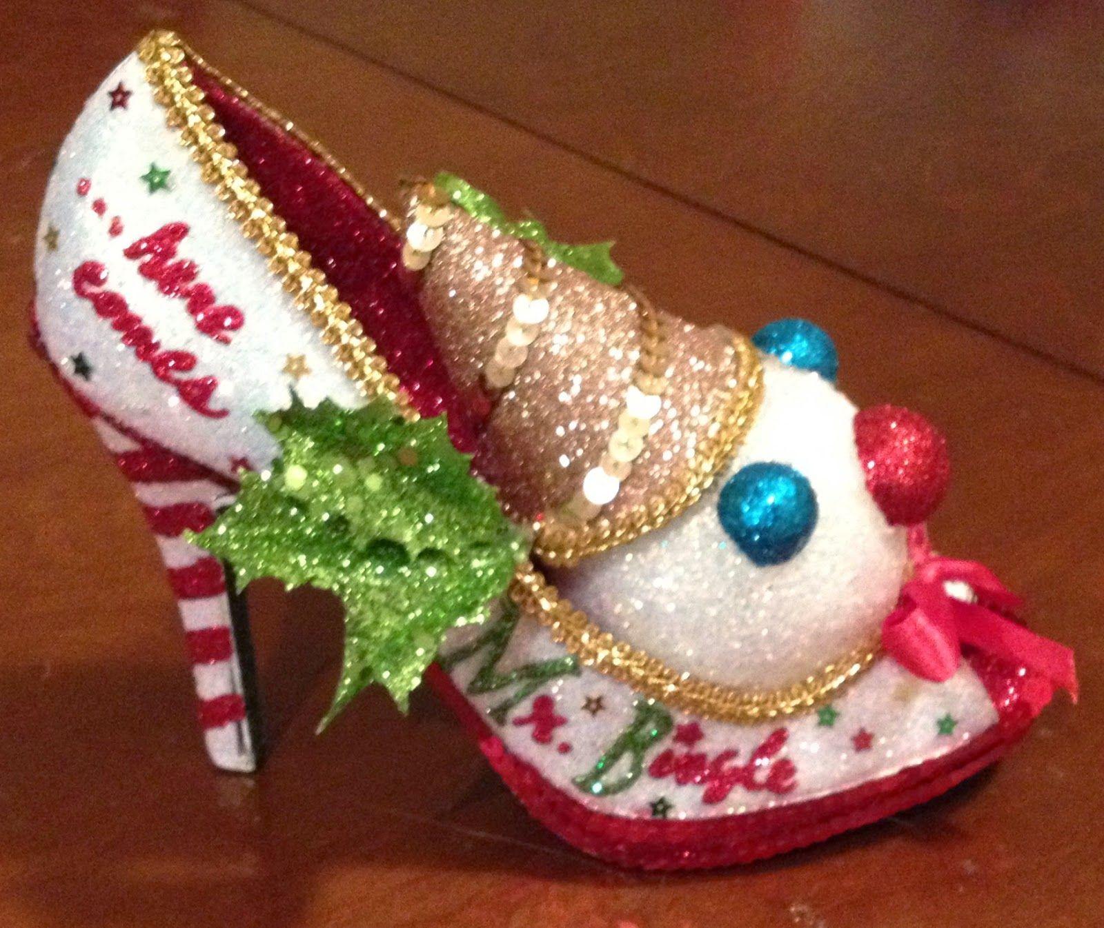 Shoe ornament clips - 2015 Mr Bingle Muses Shoe Muses Shoes Other Glittery Things Shoe Ornament Clips