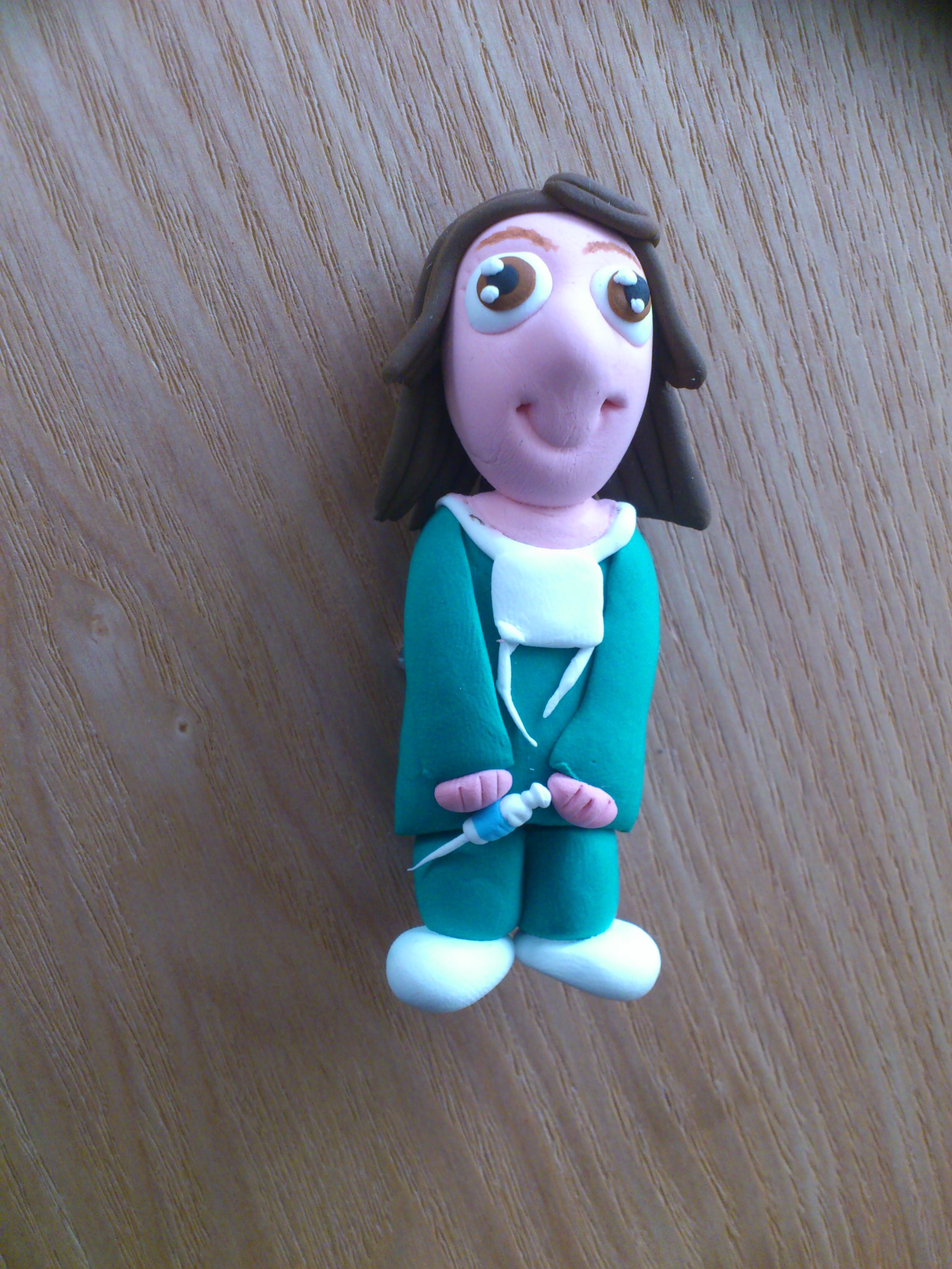Broche en Jumping Clay: Anestesista
