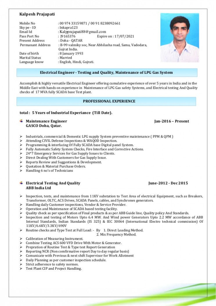 15 Home Engineer Resume
