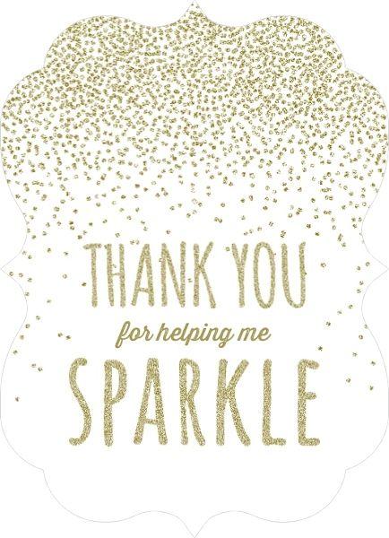 Glitter Sparkle Teacher Thank You Card by PurpleTrail - thank you card template