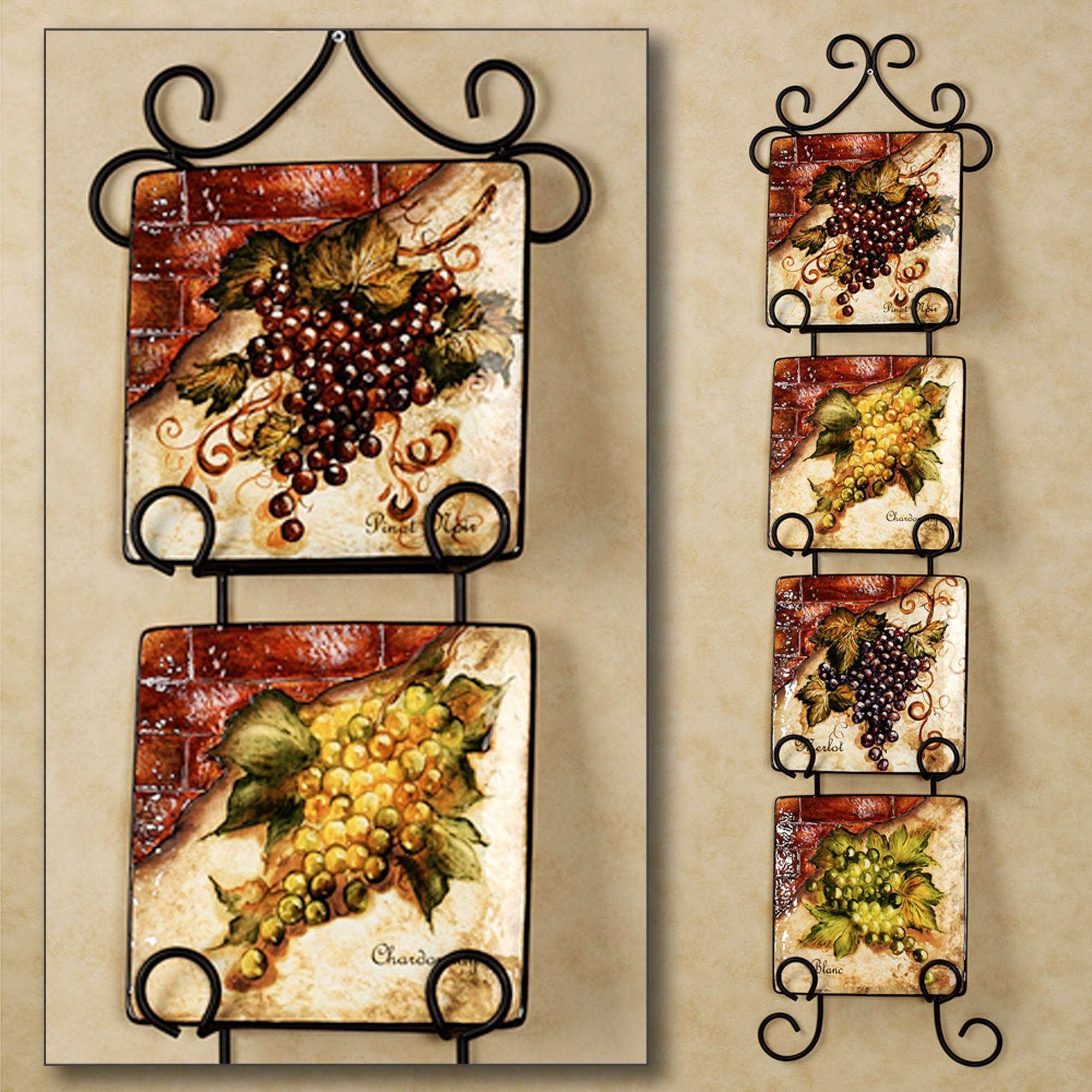 Wine Themed Kitchen Paint Ideas: Wine Cellar Square Dessert Plate Set