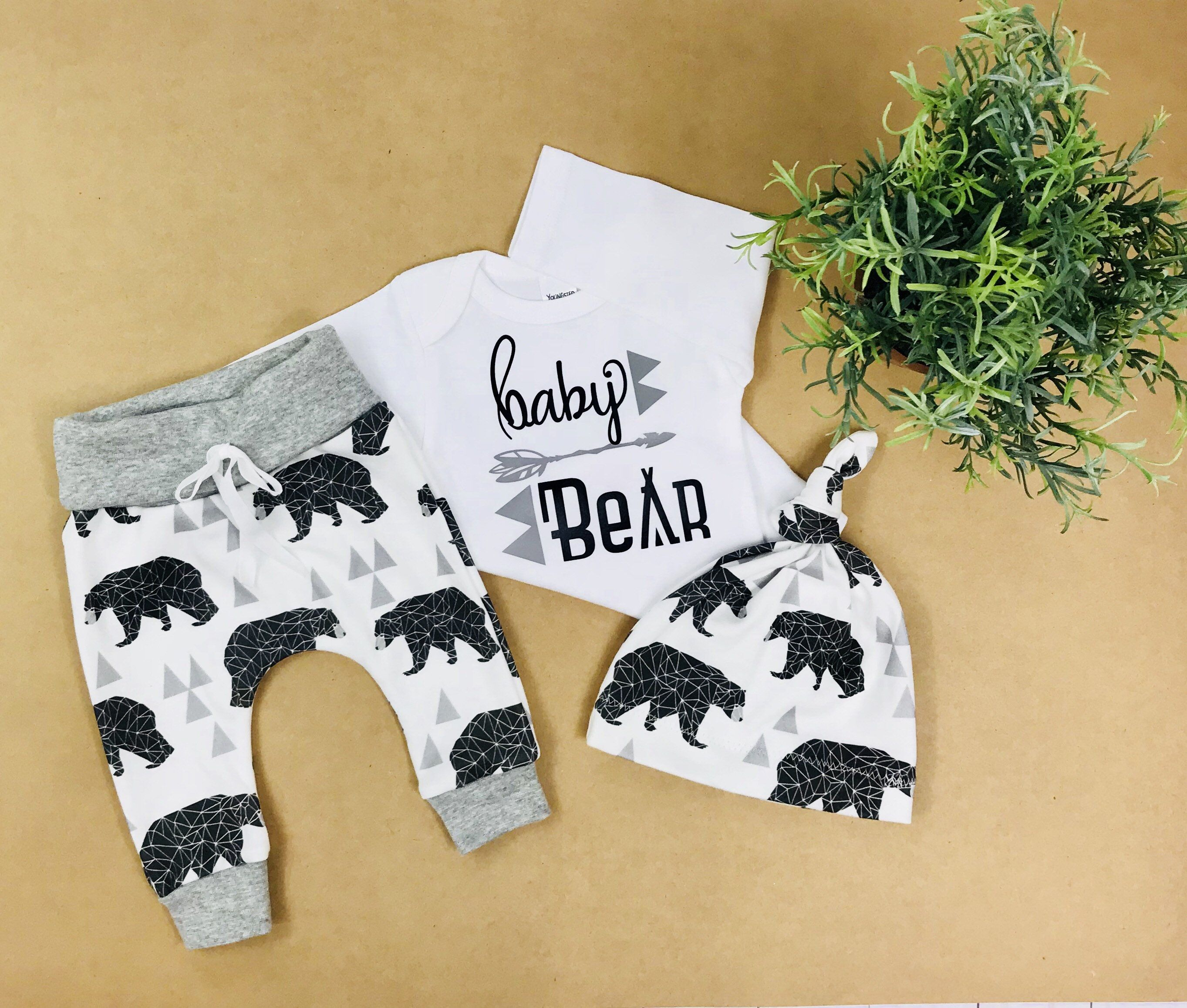 54e2bed5aacd baby boy coming home outfit baby bear  take home outfit  newborn boy ...