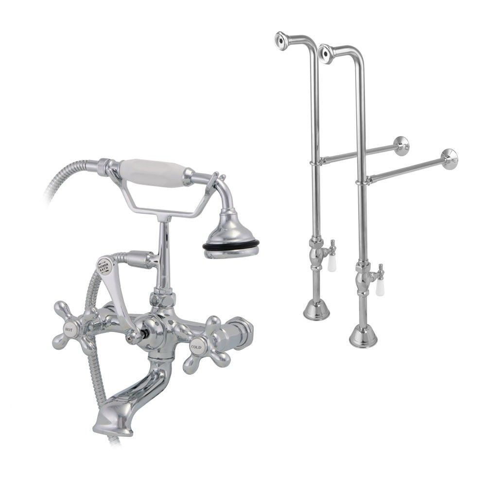 Freestanding British Telephone Clawfoot Tub Faucet With Handshower