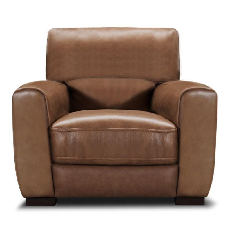 Best Violino Owen Beige Leather Contemporary Chair 400 x 300