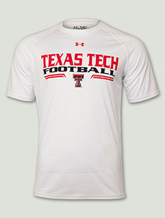 64fb1016586 Under Armour Football Sideline White T-shirt. Red Raider Outfitters ...