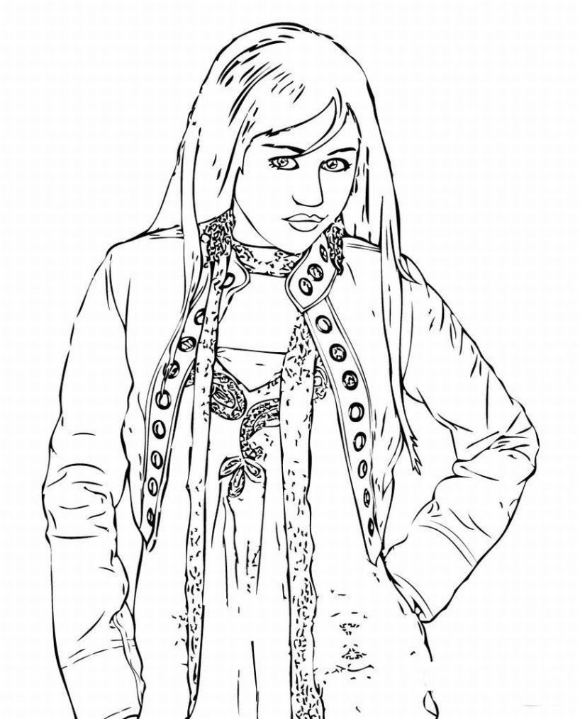 Free Printable Hannah Montana Coloring Pages For Kids Coloring Pages For Kids Hannah Montana Coloring For Kids