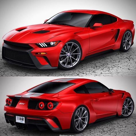 Designs Created This Mustang With  Gt Inspired Design Totally New Bodywork Splitters And Wheels Giv