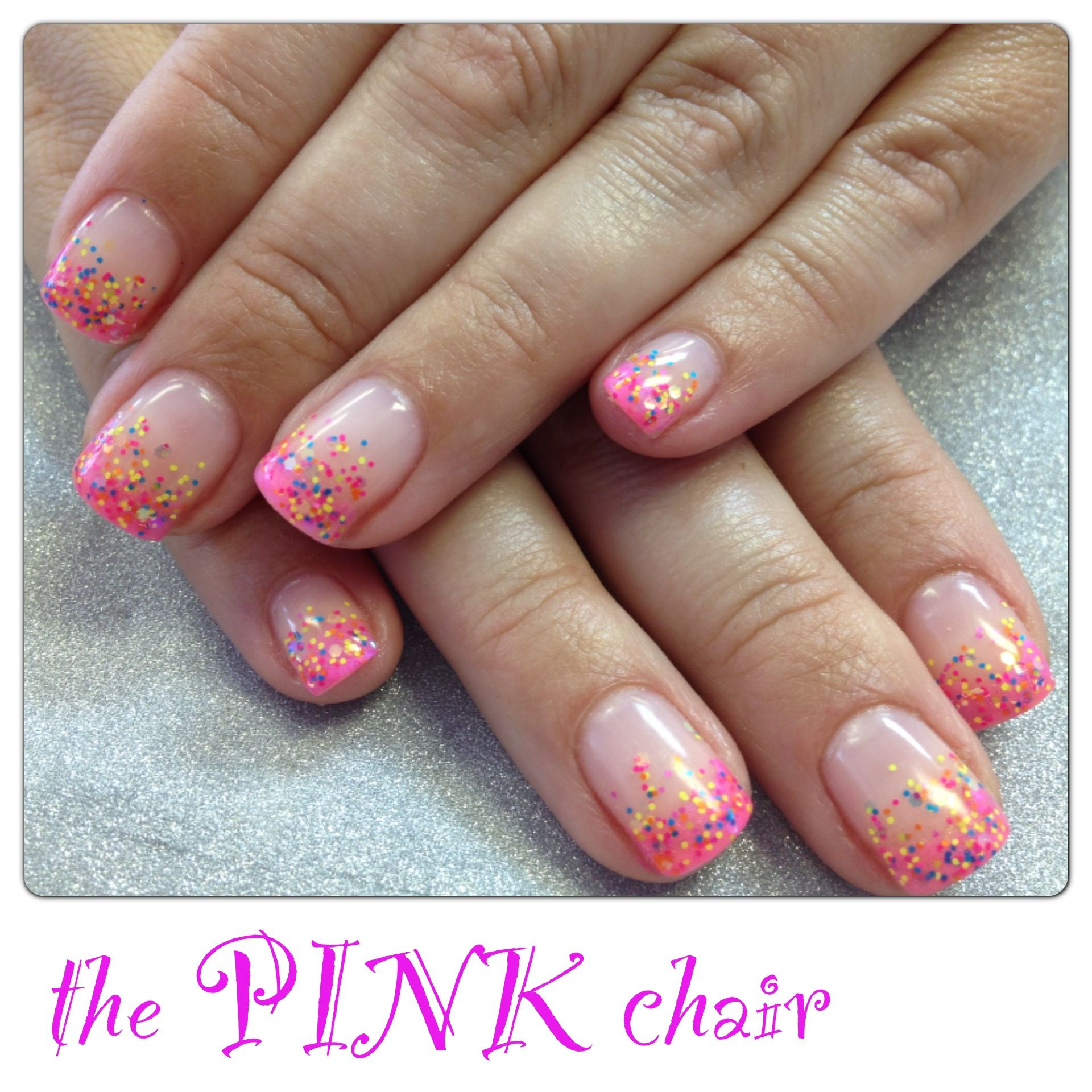 Pigment fade French gel nail using tuff Enuff nails pigments with a ...