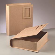 Caja libro de carton duro para decorar 34x29x9 cm mod 1 - Como hacer un libro antiguo ...
