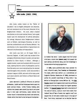 Biography John Locke Distance Learning Option John Locke Biography Economics Lessons High School