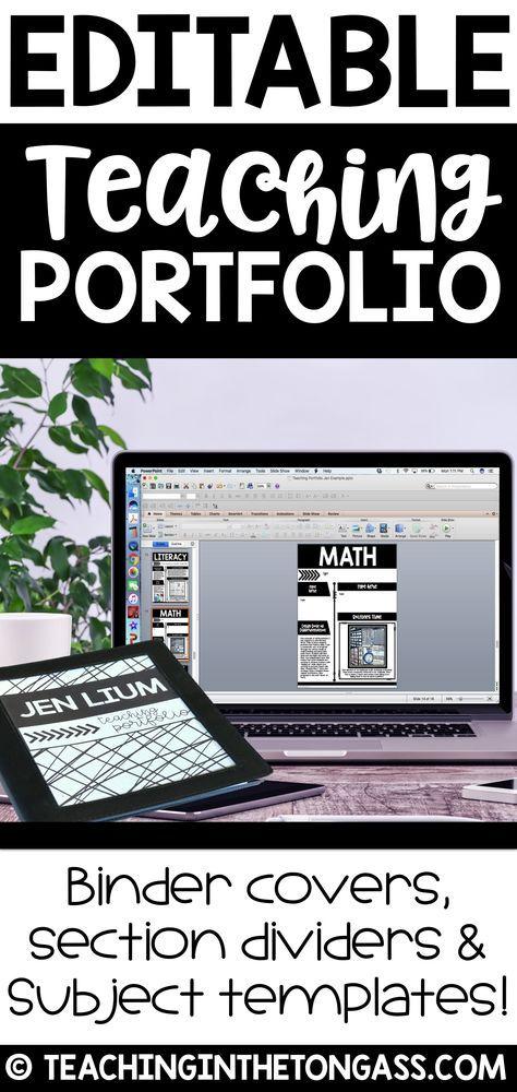 EDITABLE Teacher Portfolio (Interview Portfolio with Teacher Resume ...